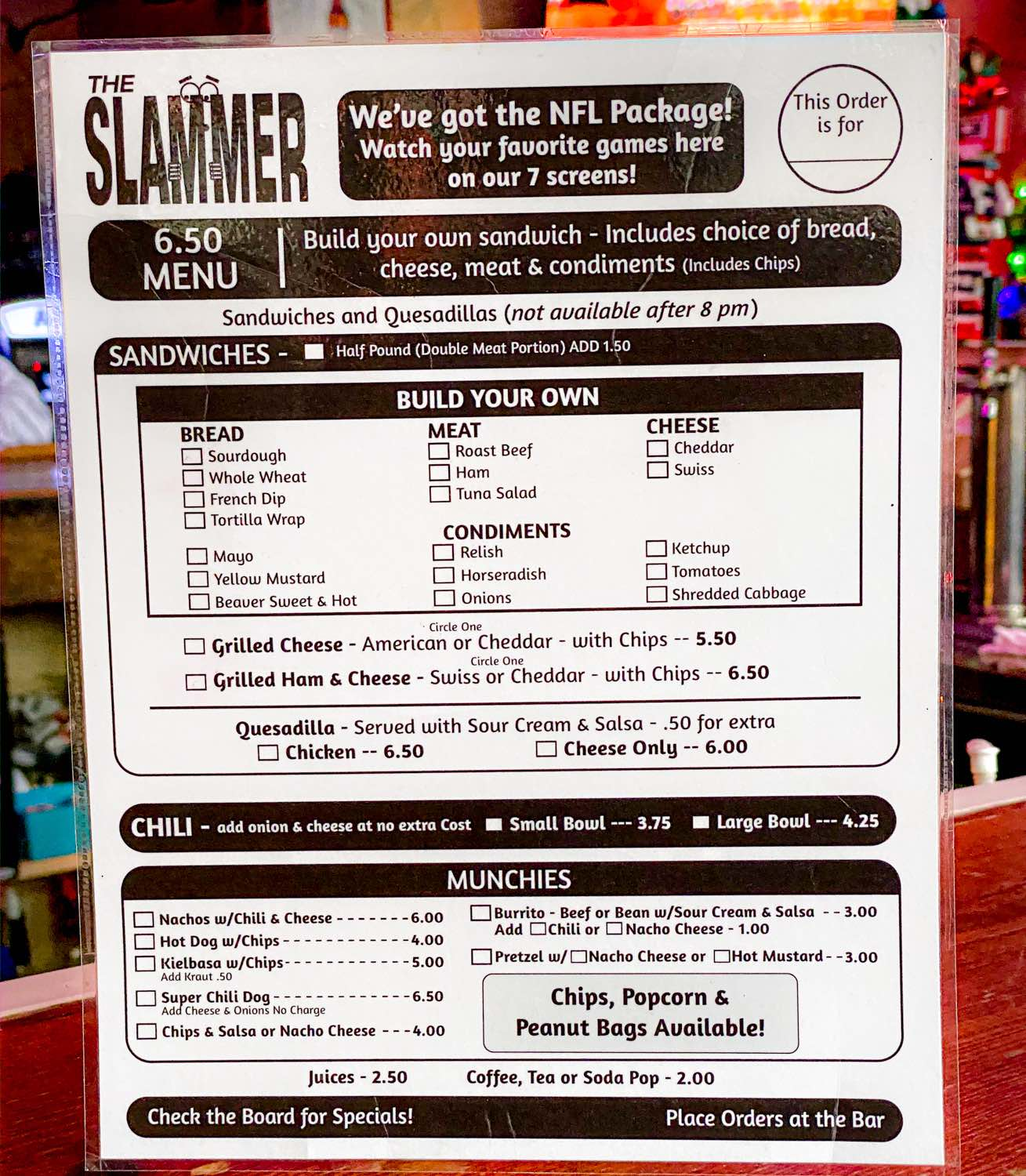 Slammer Tavern Photos for Article July 2020